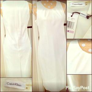 Calvin Klein cream dress, SZ 6. NWT
